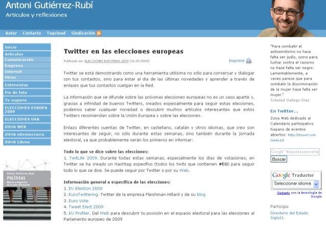 Twitter no solo es una red social