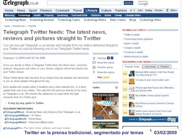 15/05/2009Primer twit desde el espacio