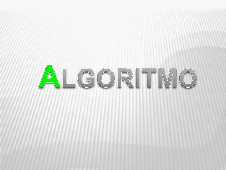 ALGORITMO<br />
