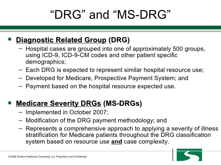 what is ms drg Start studying ms-drg's learn vocabulary, terms, and more with flashcards, games, and other study tools.