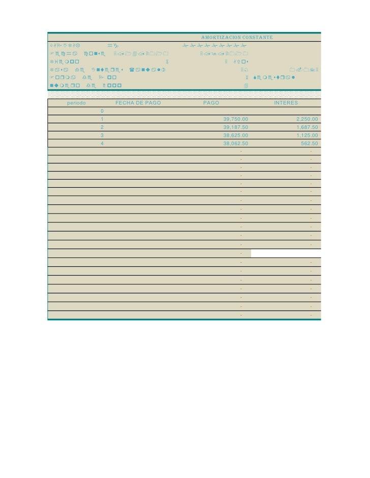 AMORTIZACION CONSTANTE CAPITAL    hg                    ######### hi              5/14/2010             5/9/2...