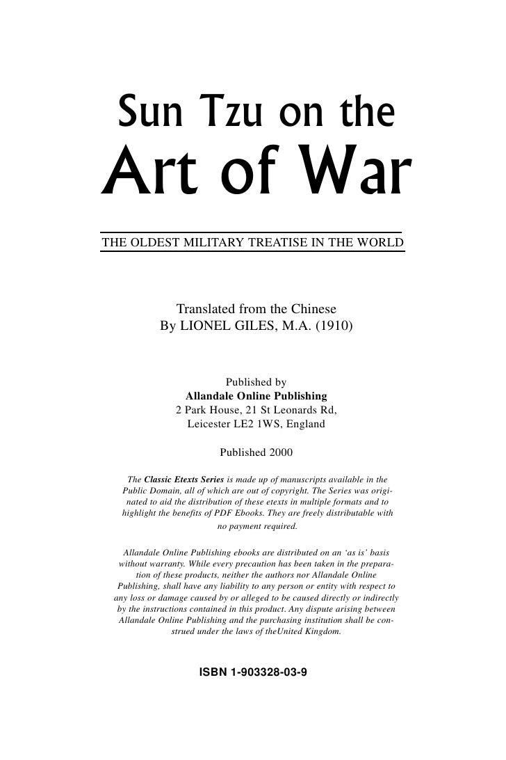Art of War Slide 2