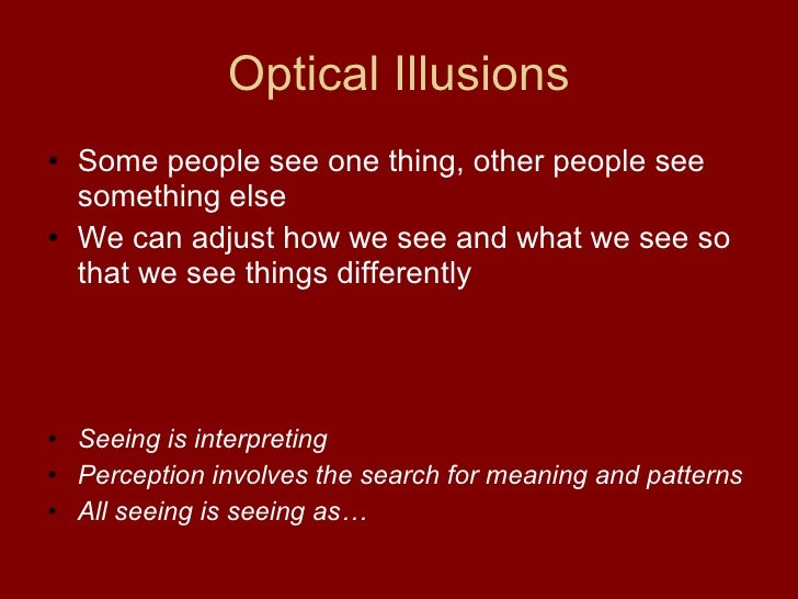 """what is sense perception and can Visual perception refers to the brain's ability to make sense of what the eyes see this is not the same as visual acuity which refers to how clearly a person sees (for example """"20/20 vision"""") a person can have 20/20 vision and still have problems with visual perceptual processing."""