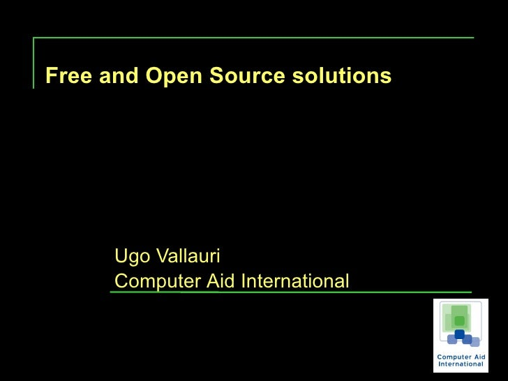 Computer Aid Free And Open Source Solutions For Visually