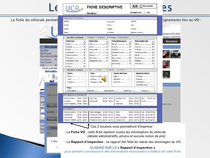 <ul><li>La fiche du véhicule permet, pour l'utilisateur, de prendre connaissance de tous les renseignements liés au VO : <...