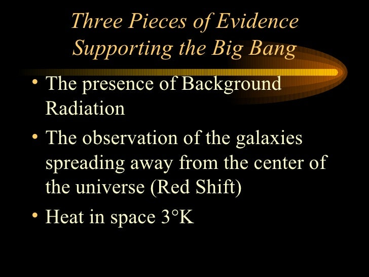 the indisputable evidence supporting the big bang theory Of the evidence that does not support the big bang, this is an example that proponents jump on first, actually claiming this as positive evidence, while it is one of the first observational contradictions of the theory that caused them to assert the existence of one of their first hypothetical entities, dark matter psychologically speaking.