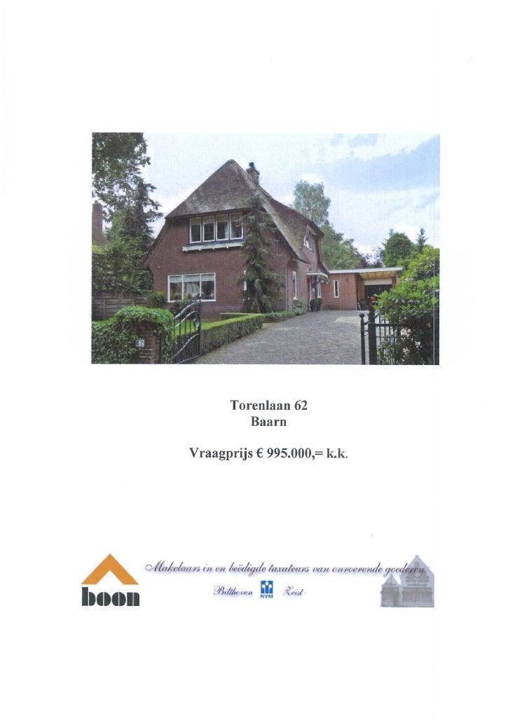Torenlaan 62 Baarn (www.boonmakelaars.nl)