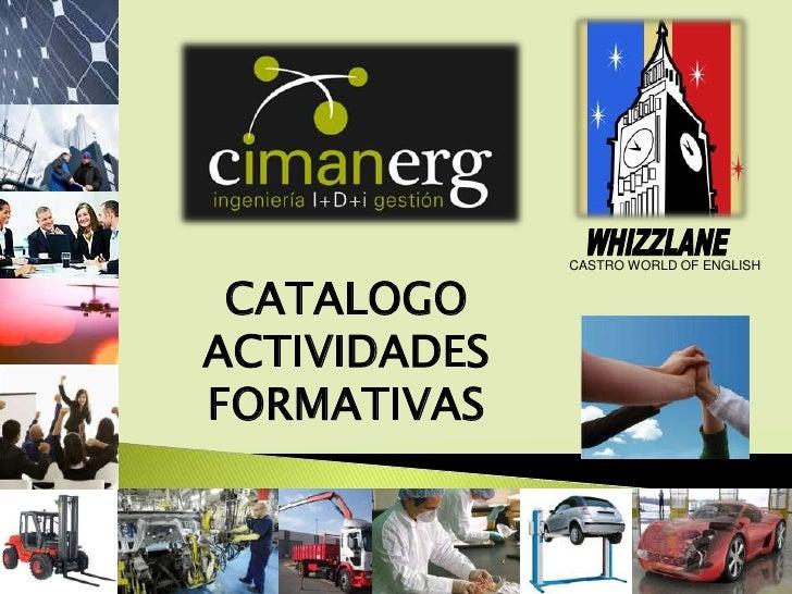 Catálogo de actividades formativas