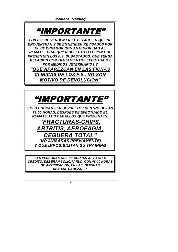 """Remate Training       """"IMPORTANTE""""      IMPORTANTE""""  LOS F.S. SE VENDEN EN EL ESTADO EN QUE SE ENCUENTRAN Y SE ENTIENDEN R..."""