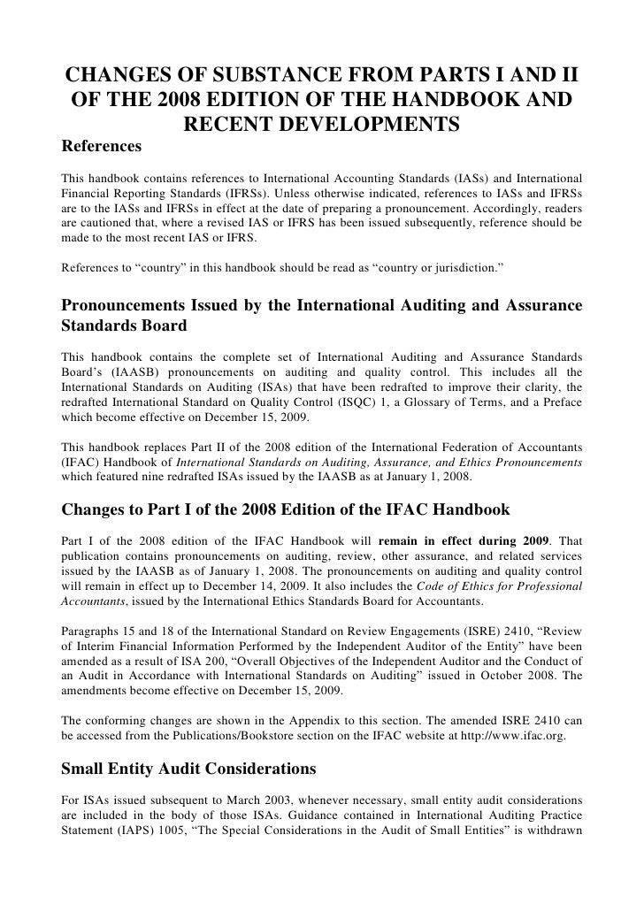 CHANGES OF SUBSTANCE FROM PARTS I AND II OF THE 2008 EDITION OF THE HANDBOOK AND RECENT DEVELOPMENTS<br />References<br />...