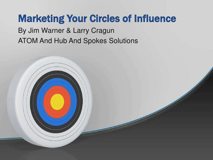 Marketing Your Circles of Influence <br />By Jim Warner & Larry Cragun<br />ATOM And Hub And Spokes Solutions<br />