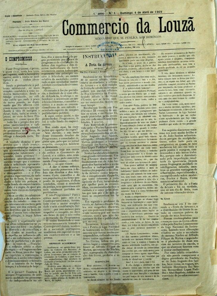 Commercio da Louzã n.º 1 – 04.04.1909