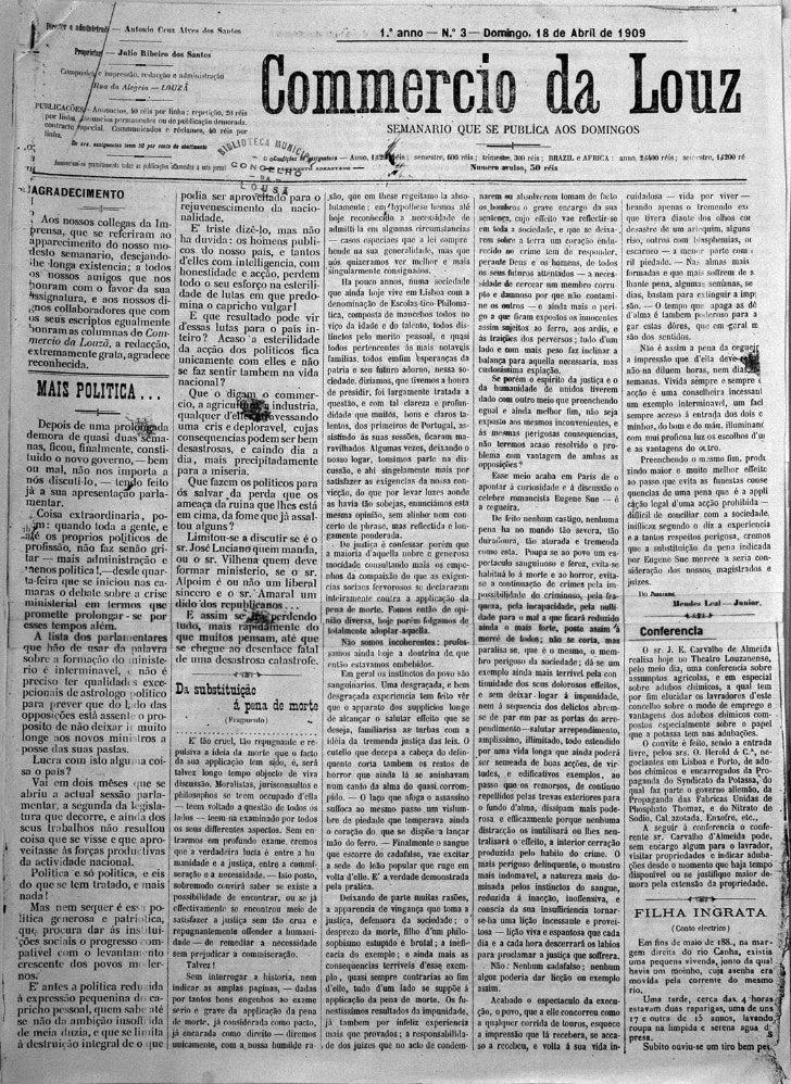 Commercio da Louzã n.º 3 – 18.04.1909