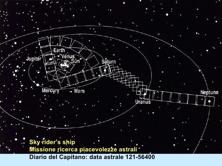 Sky rider's ship Missione ricerca piacevolezze astrali Diario del Capitano: data astrale 121-56400