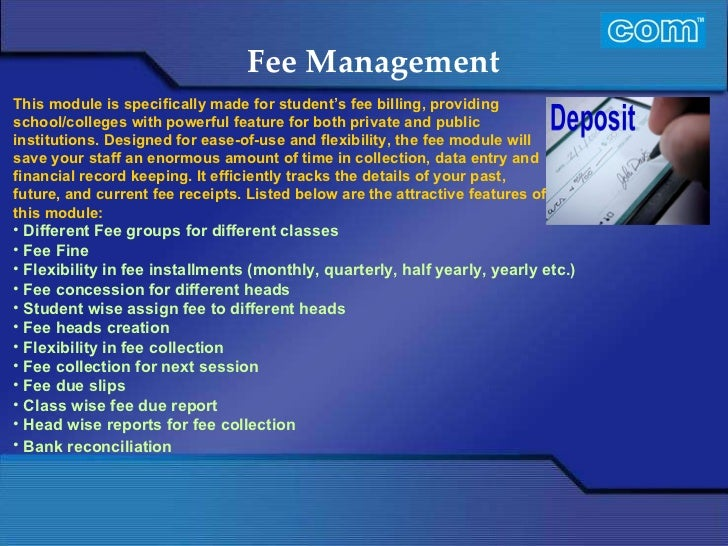 student fee management system software free