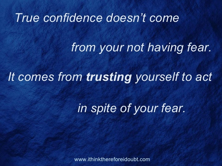 Confidence Quotes To Inspire