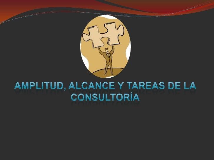 Amplitud, alcance y tareas de la consultoría<br />