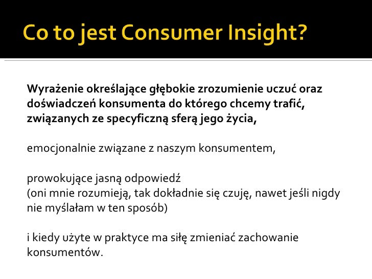 Consumer Insights - Marcin Warzecha Slide 2