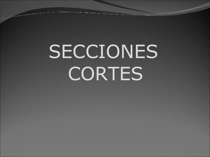 SECCIONES   CORTES