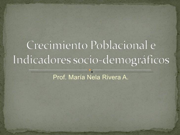 Prof. María Nela Rivera A.