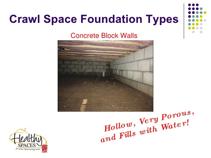 Healthy space crawlspace fix to damp wet moldy and for What is a crawl space foundation