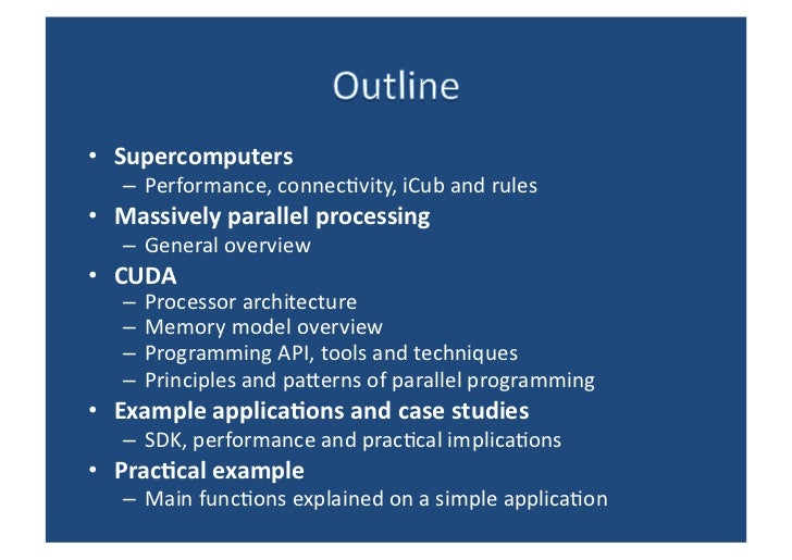Introduction to parallel computing using CUDA Slide 2