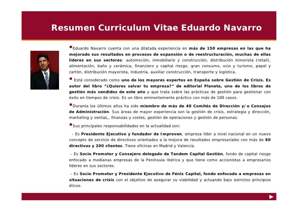 Curriculum Vitae Eduardo Navarro