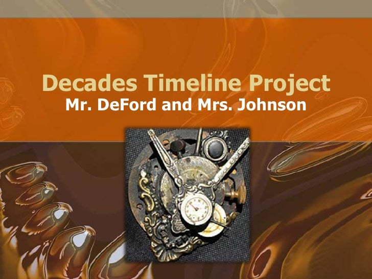 decades project It's time to dig into the last 4 decades of time in teams of 7 or 8, you will research and compile information for the class you will be looking at the politics.