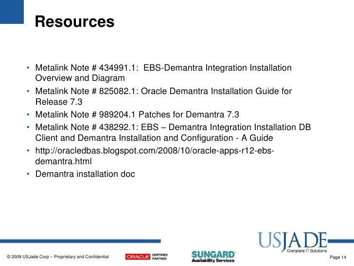 Demantra installation,configuration and integration with ebusiness su….