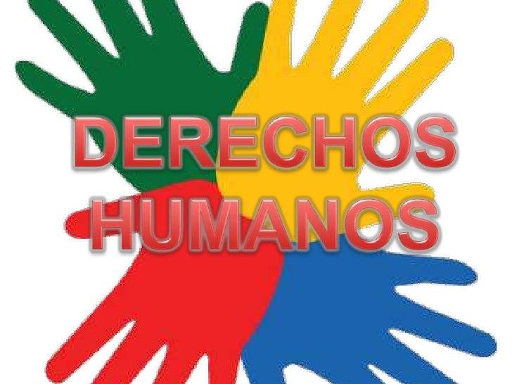 DERECHOS HUMANOS<br />