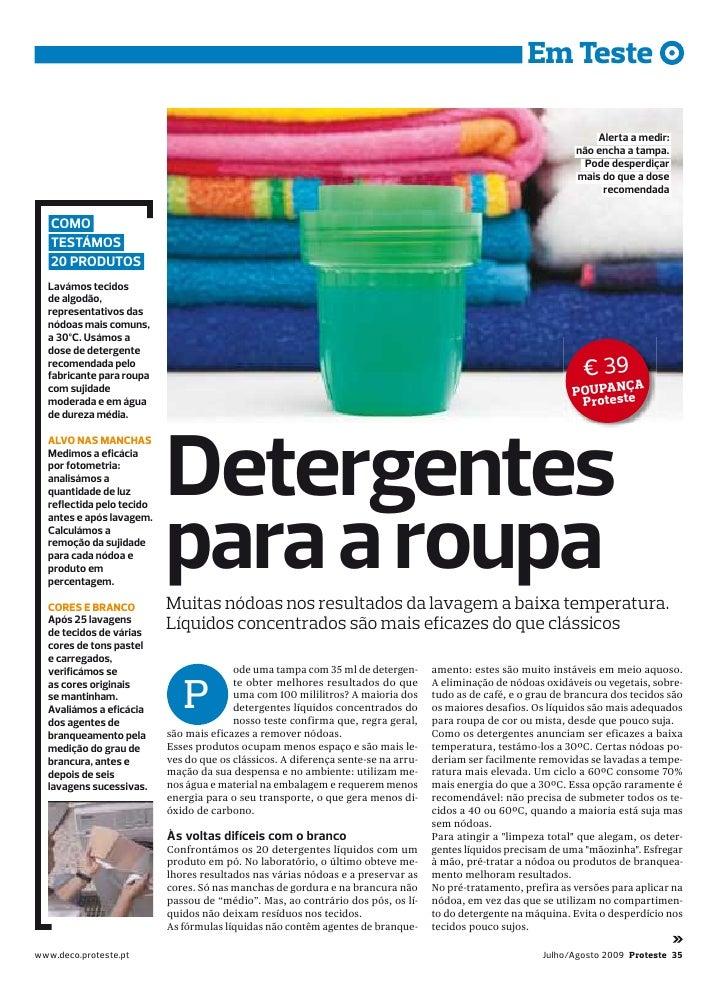detergentes para a roupa teste proteste 2