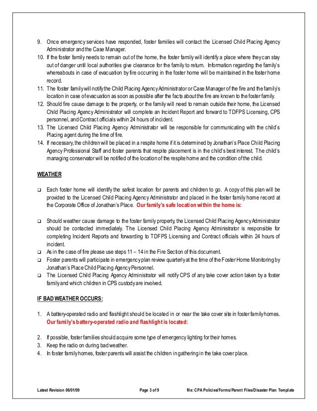 disaster emergency plan template for families 3 638?cb\=1422627423 foster care group home business plan home plan,Emergency Disaster Plan For Family Child Care Homes