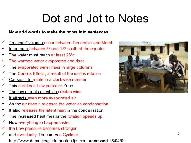 dot jots Jot notes what are jot notes jot notes are a way of recording information that you find when you are doing research jot notes: - start with a bullet, a dash (-), a tilde (~) or a dot.