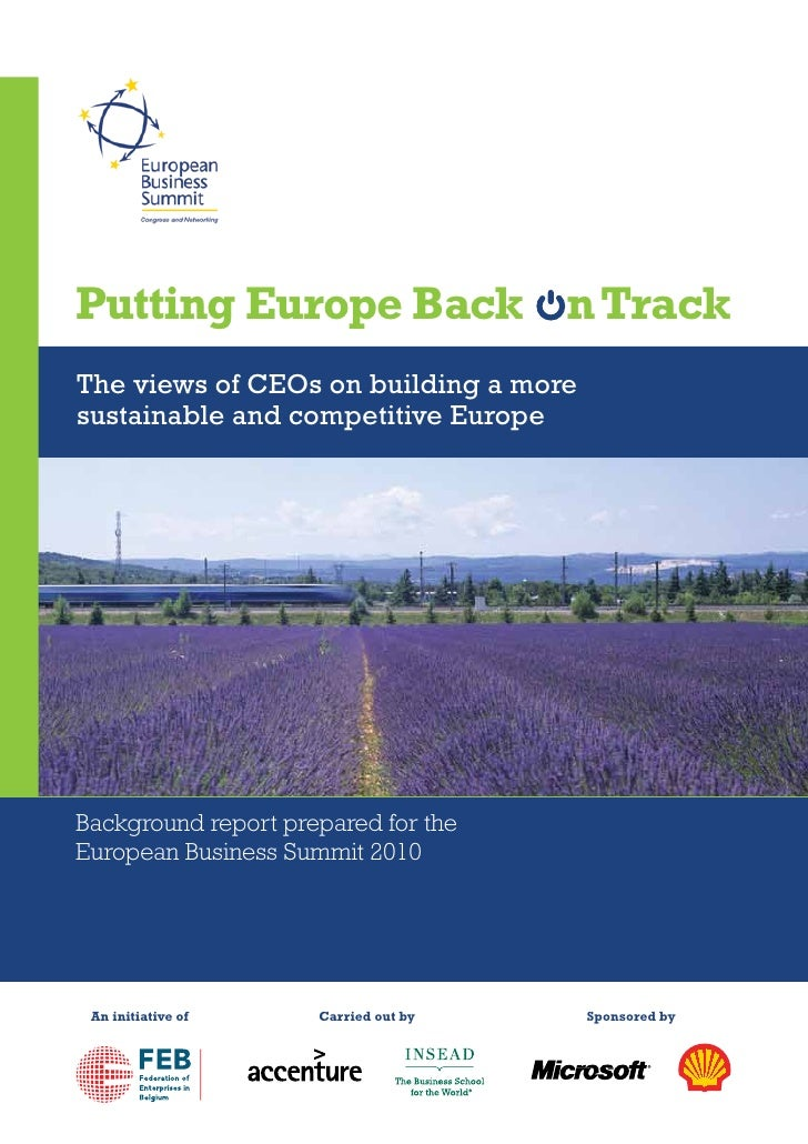 Putting Europe Back on Track