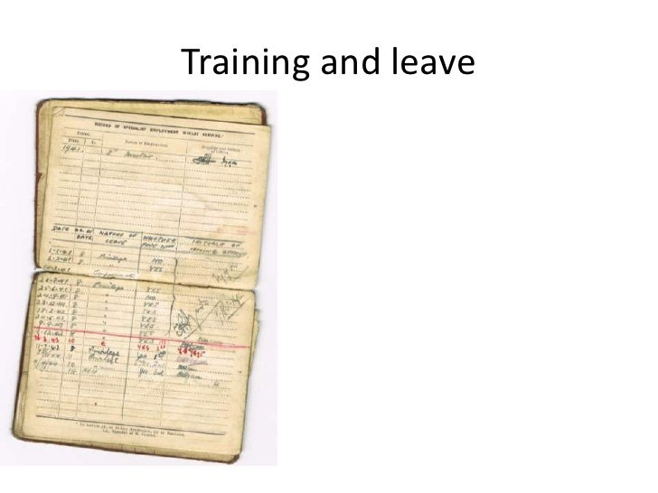 Training and leave<br />