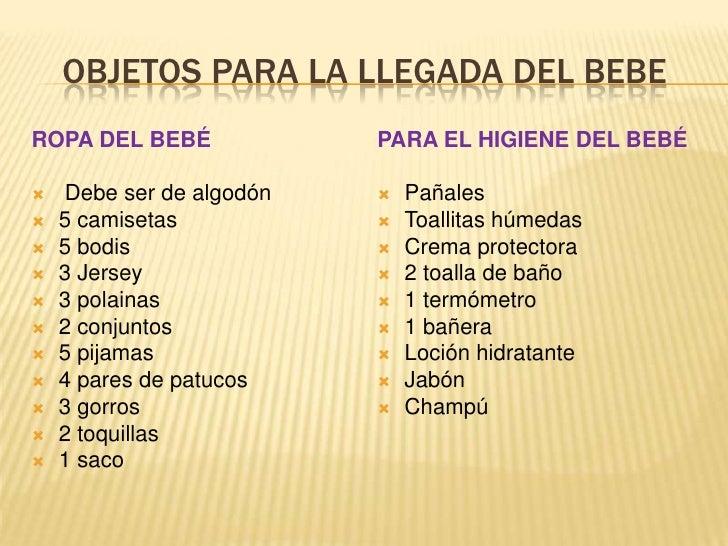 Lista De Cosas Para Bebes Recien Nacidos.Ajuar Del Bebe Recien Nacido