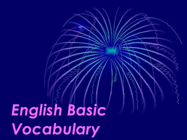 English Basic Vocabulary