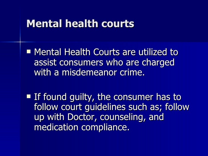 mental health courts with michigan Statewide mental health court outcome evaluation aggregate report september 2012 prepared for: michigan department of community health.