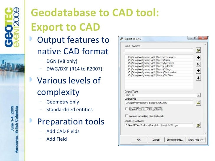 CAD-GIS Integration Approaches with ARCGIS