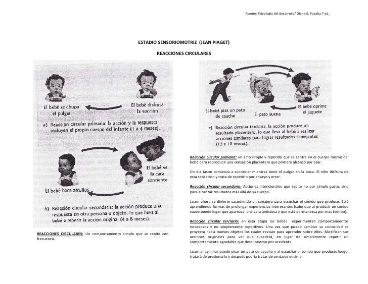 Fuente: Psicología del desarrollo/ Diane E. Papalia.7 ed.ESTADIO SENSORIOMOTRIZ  (JEAN PIAGET)<br />4555490275590127002755...