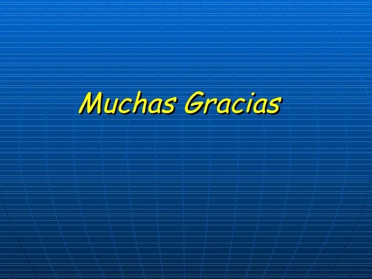 <ul><li>Muchas Gracias </li></ul>