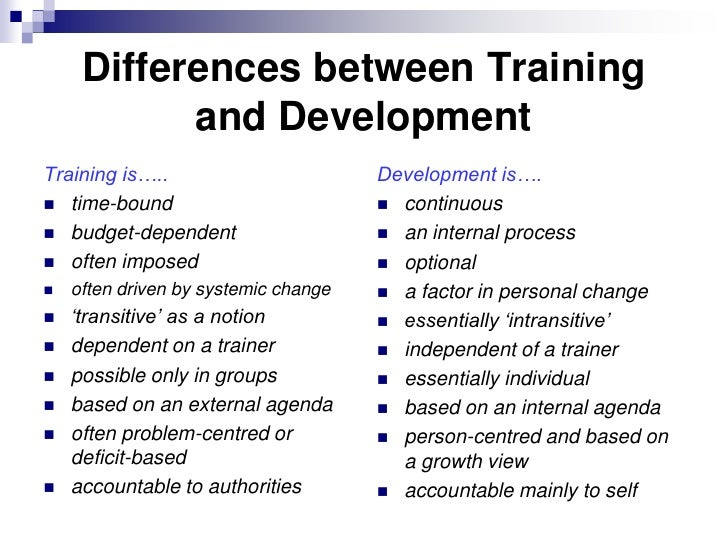 essay training development The meaning of training and development (2006, december 09) in writeworkcom retrieved 22:53, may 08, 2018, from .