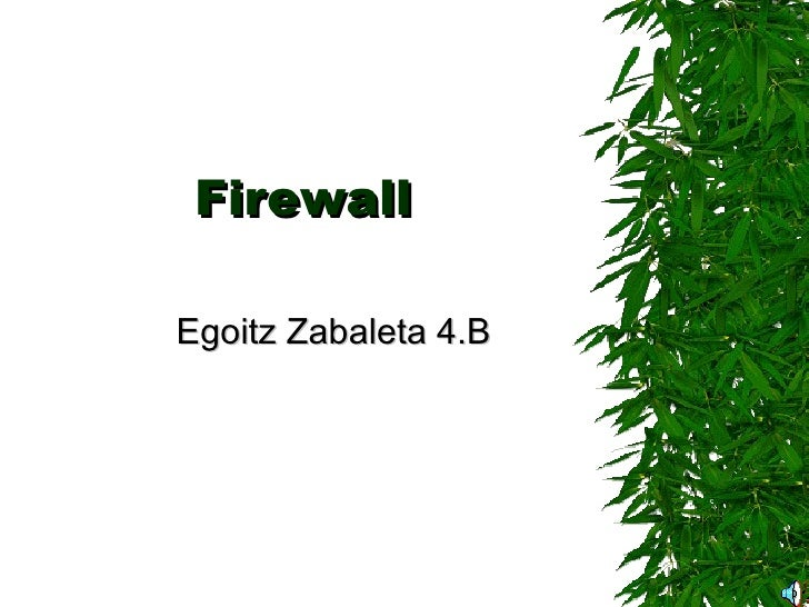 Firewall Egoitz Zabaleta 4.B