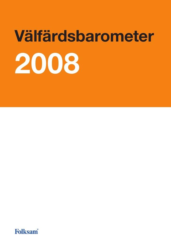 Välfärdsbarometer 2008