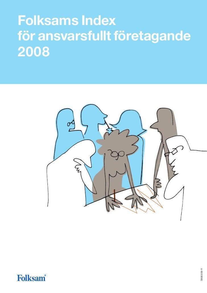 Folksams Index för ansvarsfullt företagande 2008                                    S9303 08-11