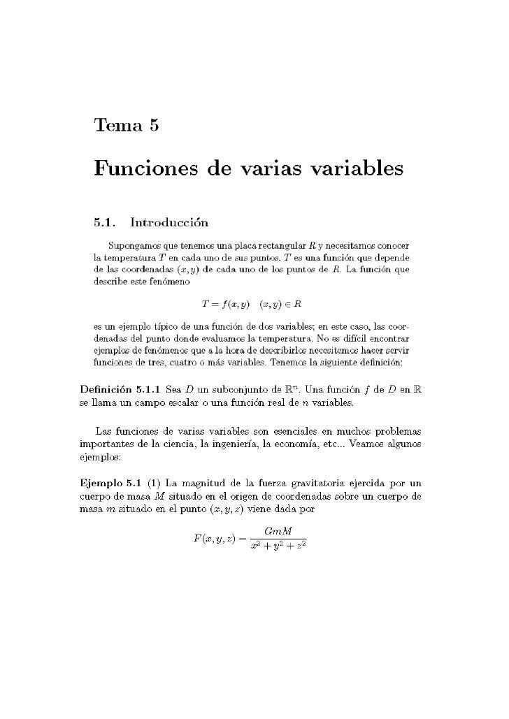 11. FUNCIONES DE VARIAS VARIABLES