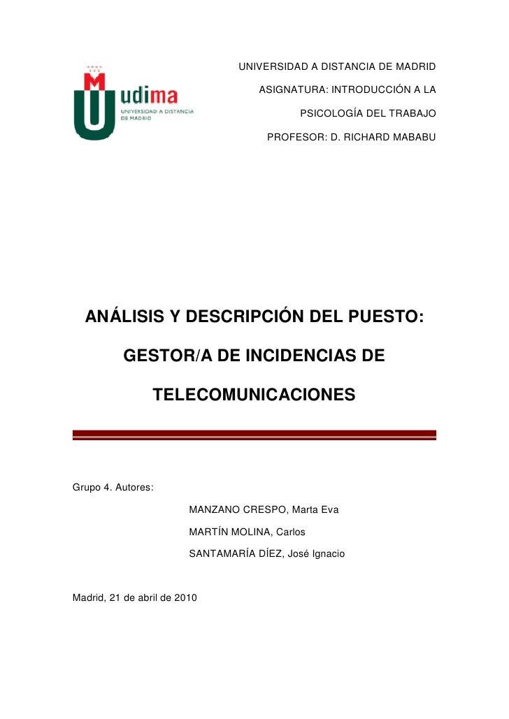 UNIVERSIDAD A DISTANCIA DE MADRID                                        ASIGNATURA: INTRODUCCIÓN A LA                    ...