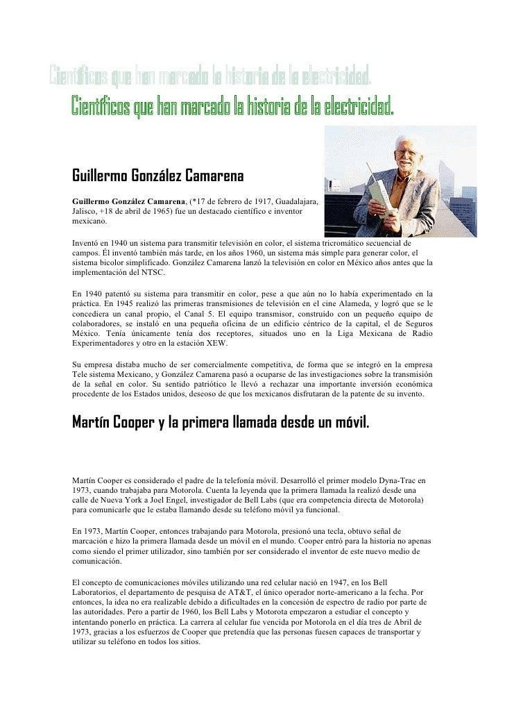 Guillermo González CamarenaGuillermo González Camarena, (*17 de febrero de 1917, Guadalajara,Jalisco, +18 de abril de 1965...
