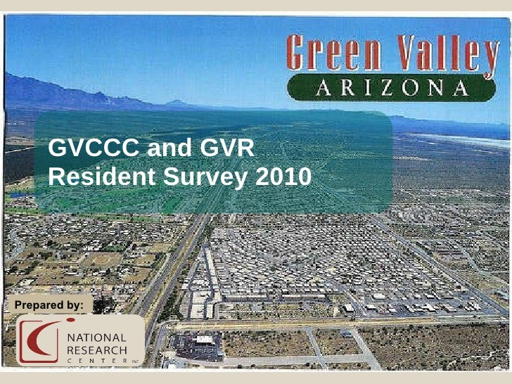 GVCCC and GVR Resident Survey 2010 Prepared by: