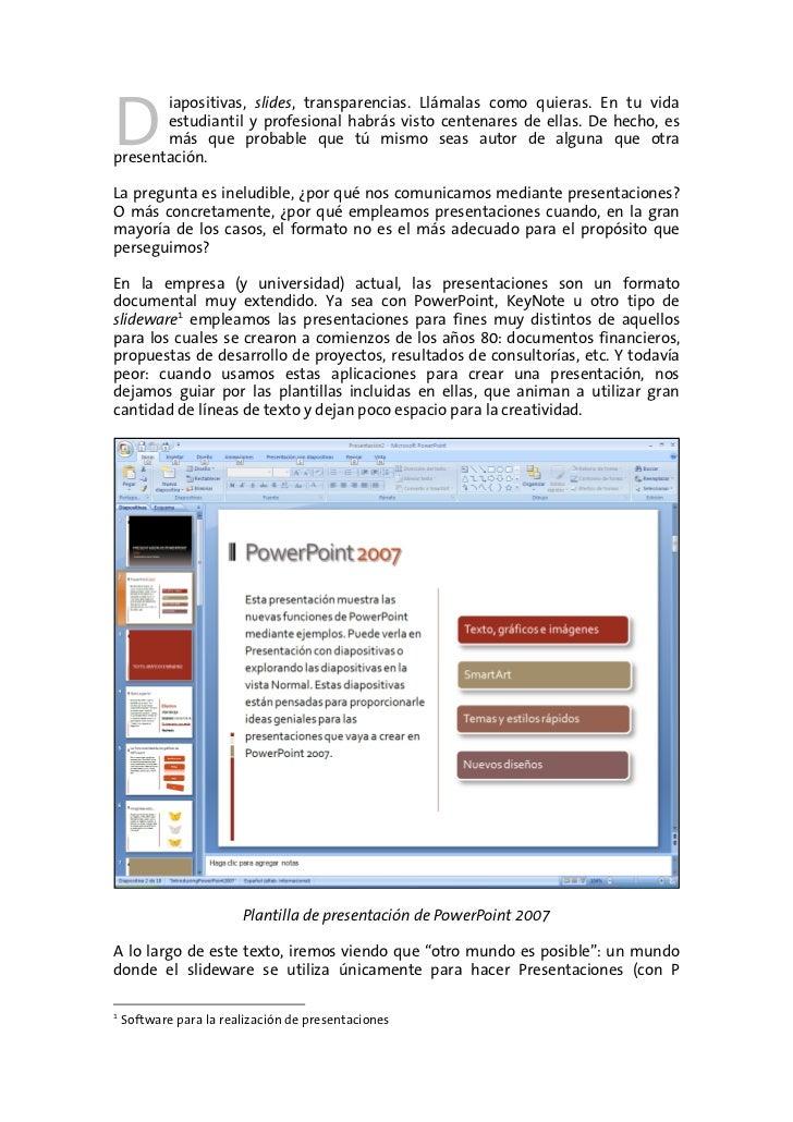 El Arte de la Presentación - Documentación Slide 3